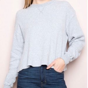 Brandy Melville thick thermal grey long sleeve